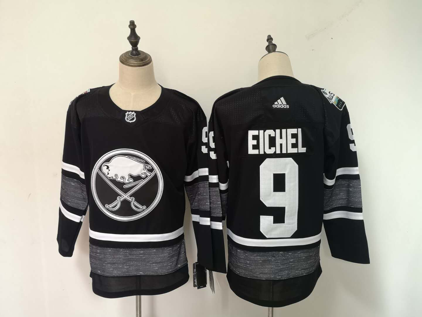 Sabres 9 Jack Eichel Black 2019 NHL All-Star Game Adidas Jersey
