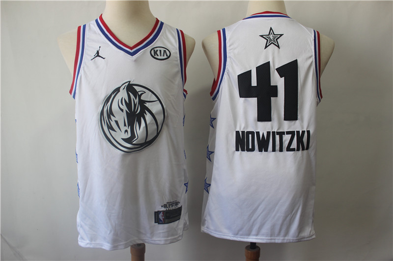 Mavericks 41 Dirk Nowitzki White 2019 NBA All-Star Game Jordan Brand Swingman Jersey