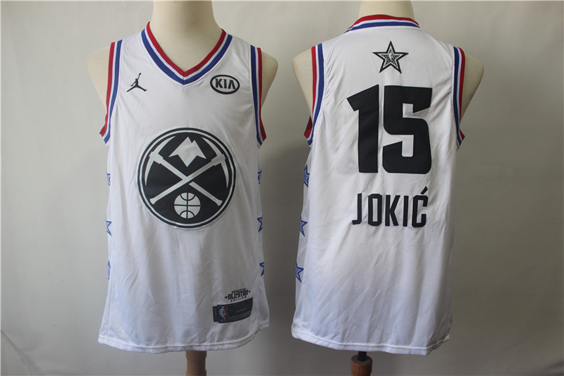 Nuggets 15 Nikola Jokic White 2019 NBA All-Star Game Jordan Brand Swingman Jersey