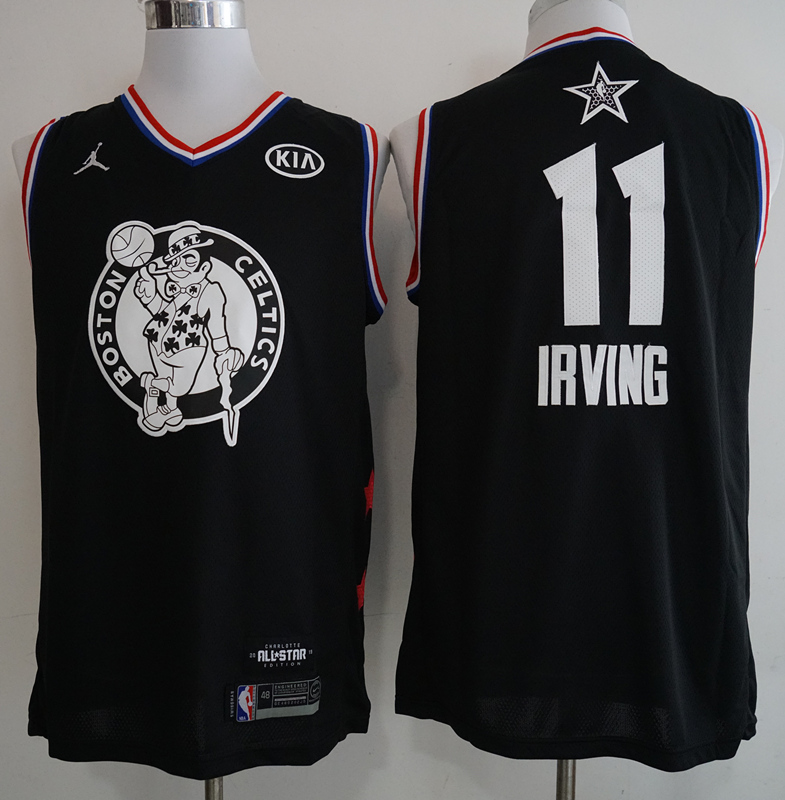 Celtics 11 Kyrie Irving Black 2019 NBA All-Star Game Jordan Brand Swingman Jersey