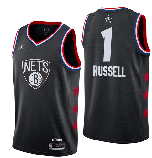 Nets 1 D'Angelo Russell Black 2019 NBA All-Star Game Jordan Brand Swingman Jersey