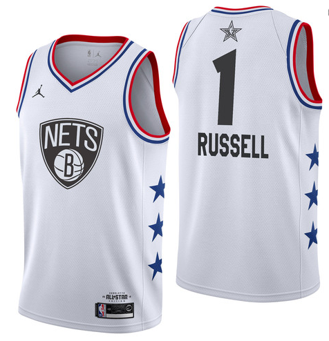 Nets 1 D'Angelo Russell White 2019 NBA All-Star Game Jordan Brand Swingman Jersey
