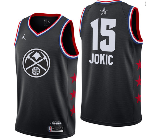 Nuggets 15 Nikola Jokic Black 2019 NBA All-Star Game Jordan Brand Swingman Jersey