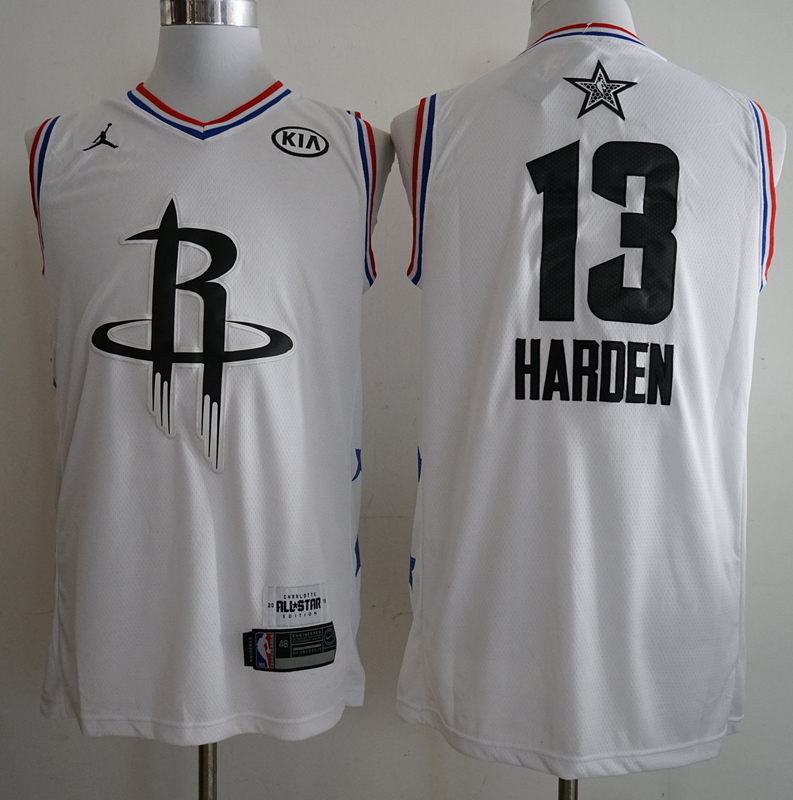 Rockets 13 James Harden White 2019 NBA All-Star Game Jordan Brand Swingman Jersey