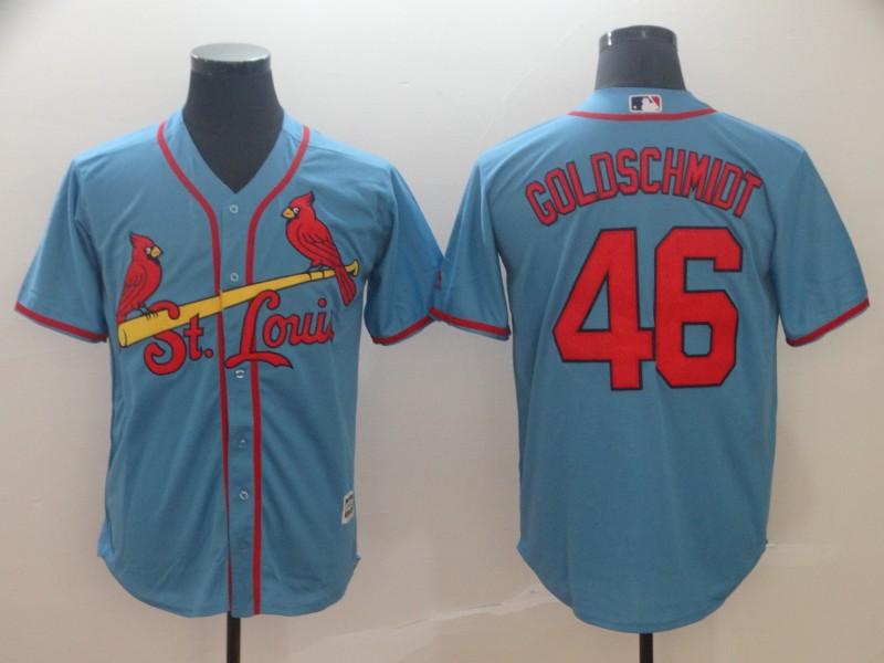 Cardinals 46 Paul Goldschmidt Light Blue Cool Base Jersey