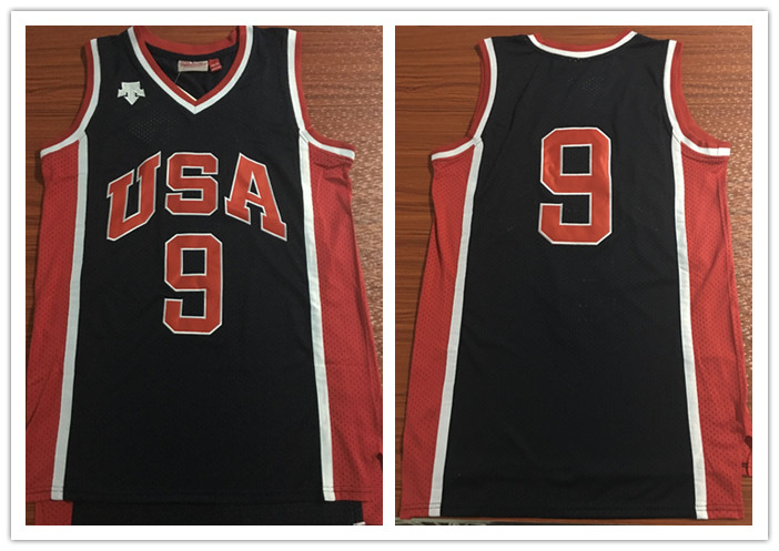 Olympics Team USA #9 Navy Stitched Basketball Jersey