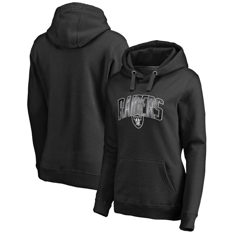 Oakland Raiders NFL Pro Line by Fanatics Branded Women's Plus Size Arch Smoke Pullover Hoodie