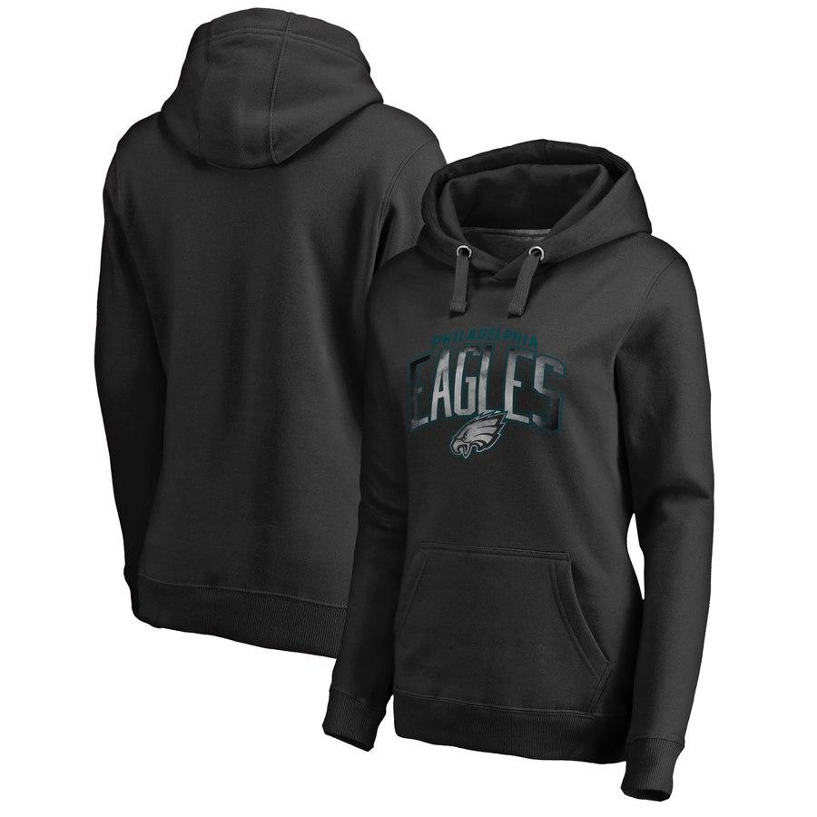 Philadelphia Eagles NFL Pro Line by Fanatics Branded Women's Plus Size Arch Smoke Pullover Hoodie