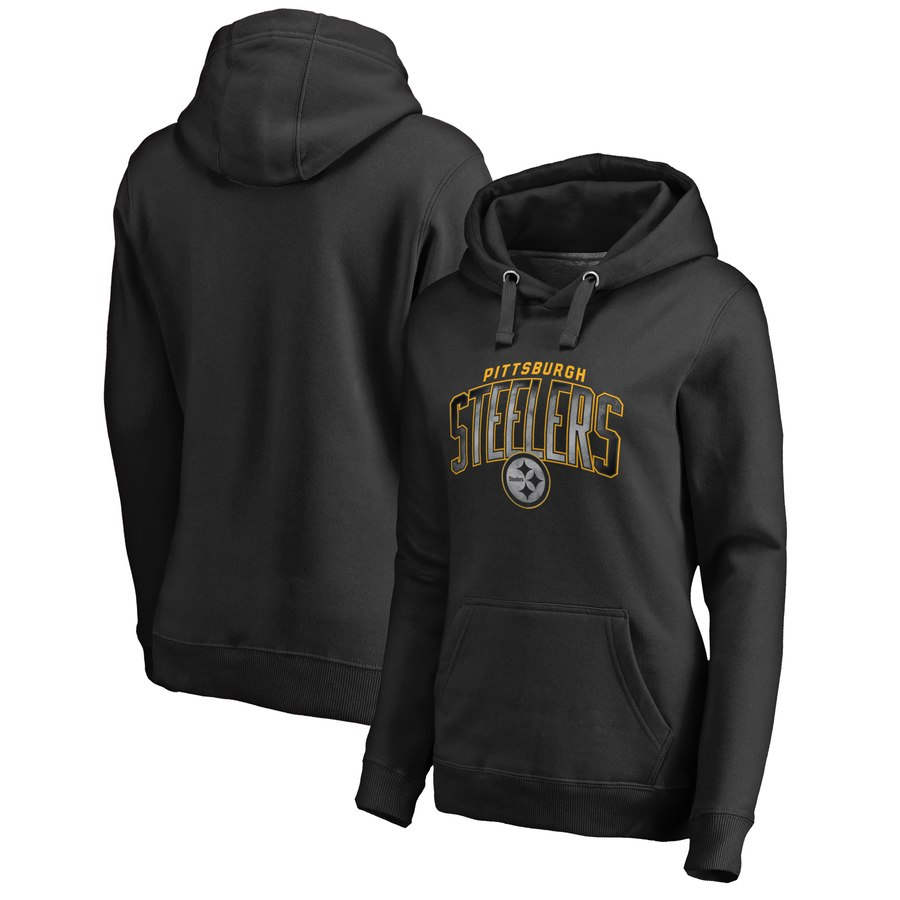 Pittsburgh Steelers NFL Pro Line by Fanatics Branded Women's Plus Size Arch Smoke Pullover Hoodie
