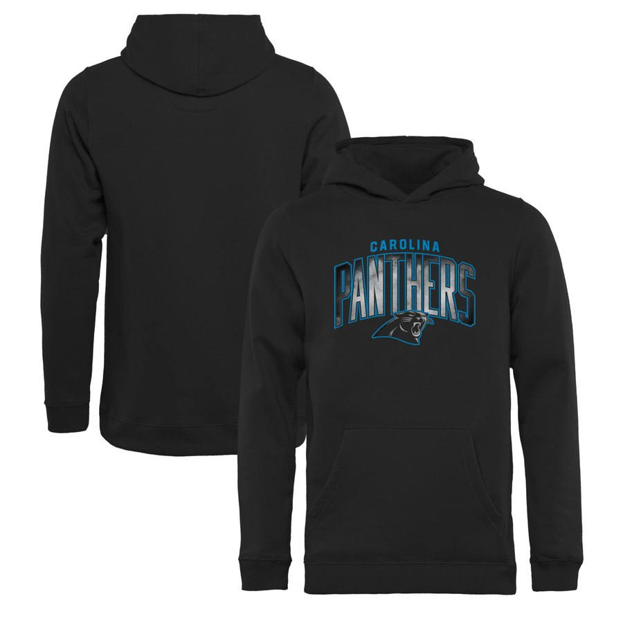 Carolina Panthers NFL Pro Line by Fanatics Branded Youth Arch Smoke Pullover Hoodie Black