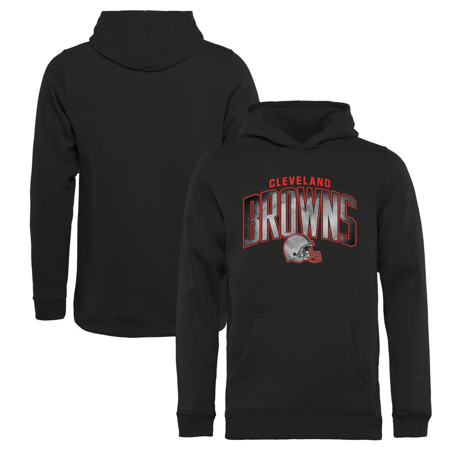 Cleveland Browns NFL Pro Line by Fanatics Branded Youth Arch Smoke Pullover Hoodie Black