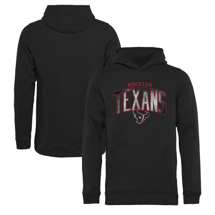 Houston Texans NFL Pro Line by Fanatics Branded Youth Arch Smoke Pullover Hoodie Black