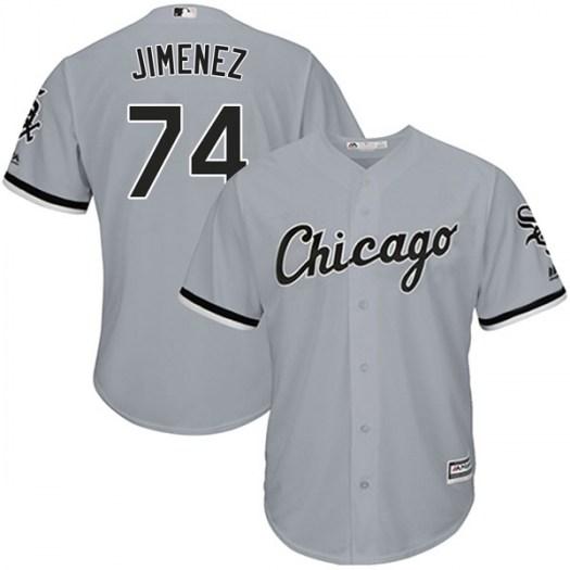 White Sox 74 Eloy Jimenez Gray Cool Base Jersey