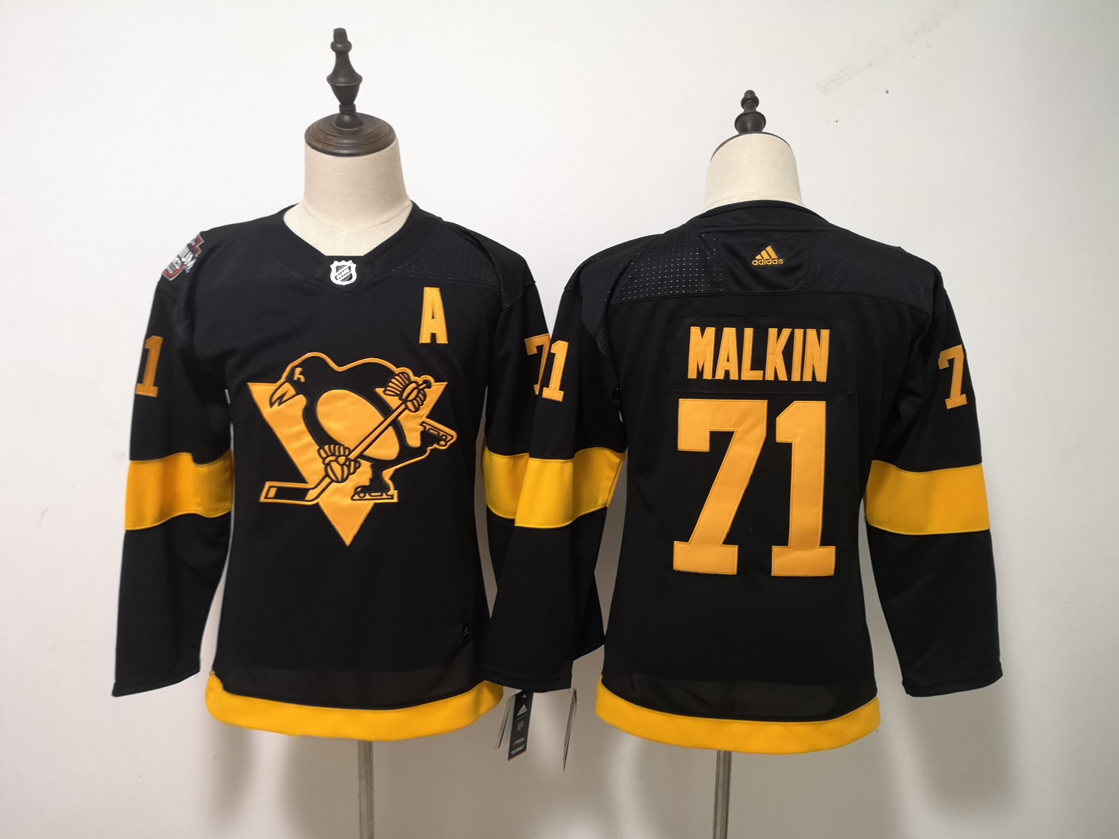 Penguins 71 Evgeni Malkin Black Youth 2019 NHL Stadium Series Adidas Jersey