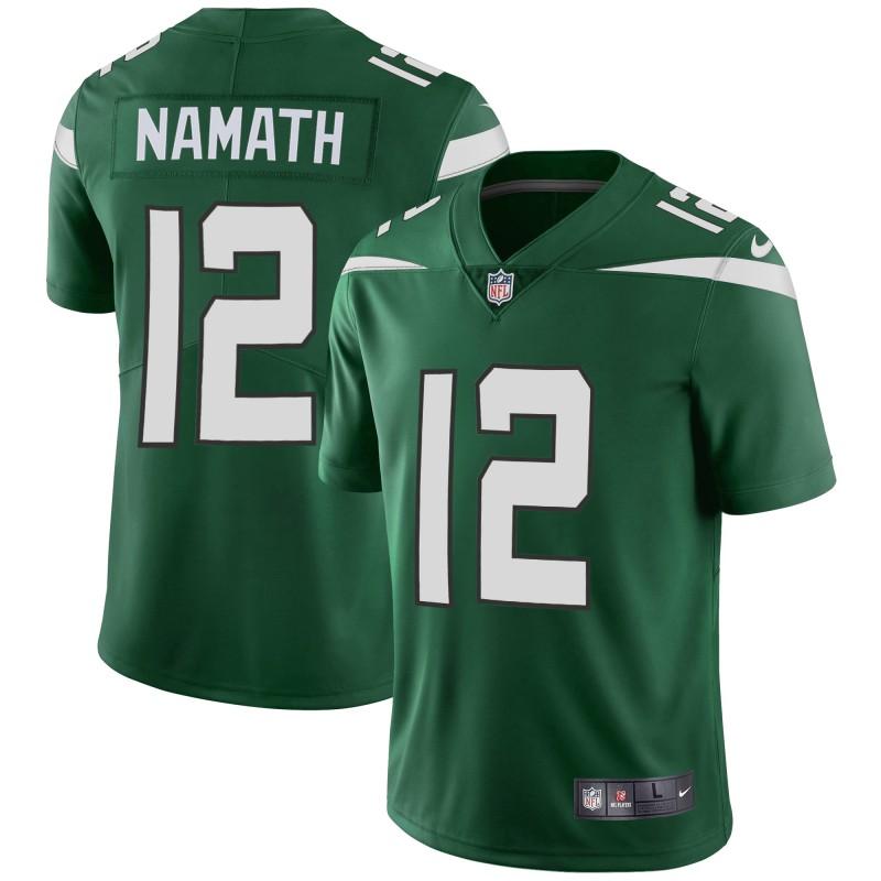 Nike Jets 12 Joe Namath Green Youth New 2019 Vapor Untouchable Limited Jersey