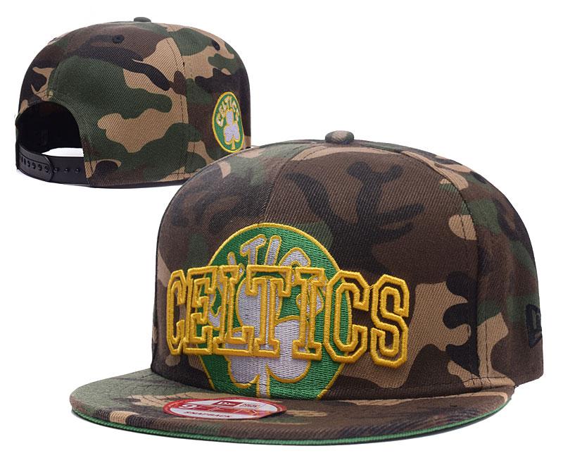 Celtics Team Logo Camo Adjustable Hat GS