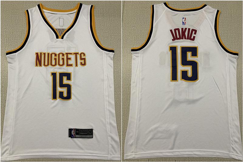 Nuggets 15 Nikola Jokic White Nike Swingman Jersey