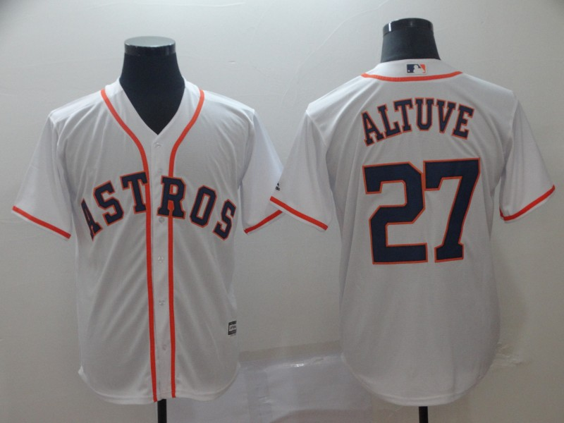 Astros 27 Jose Altuve White Cool Base Jersey