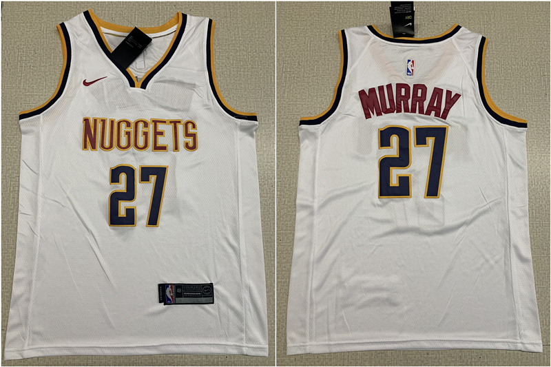Nuggets 27 Jamal Murray White Nike Swingman Jersey