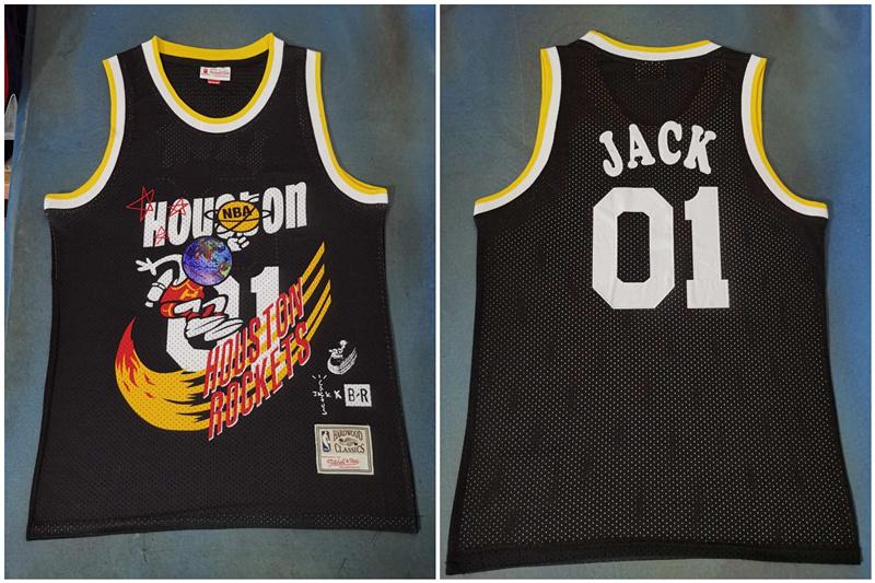 Rockets 01 Jack Black Travis Scott Mitchell Ness Bleacher Report Jersey