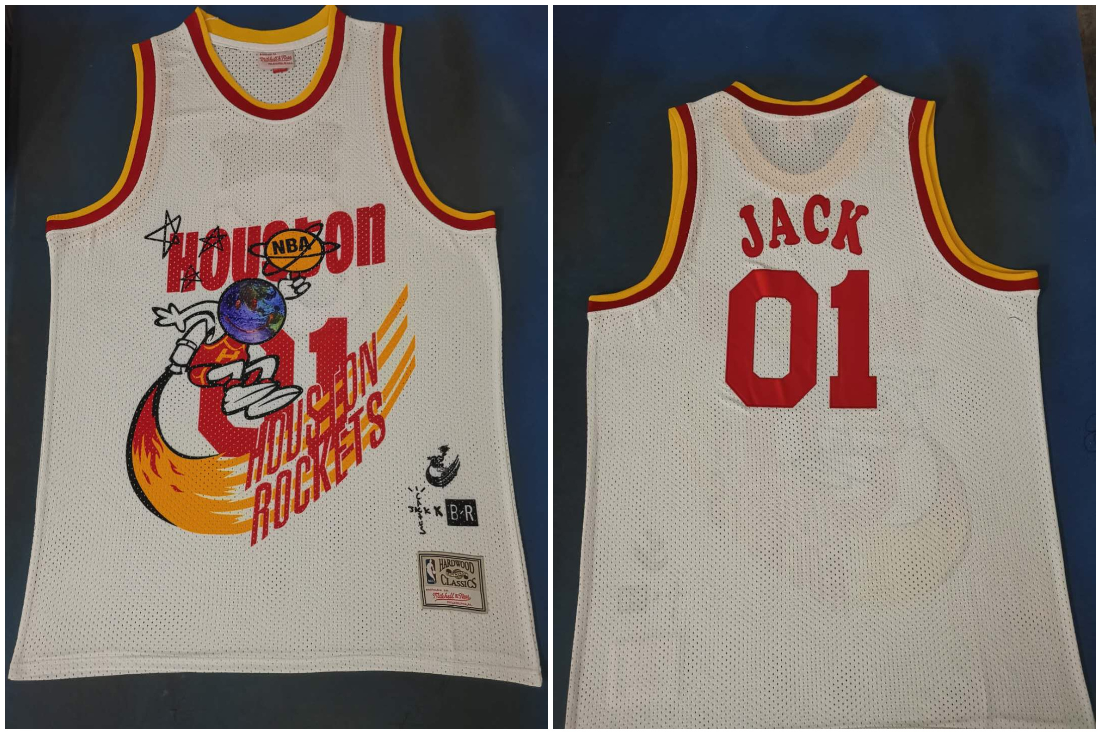 Rockets 01 Jack White Travis Scott Mitchell Ness Bleacher Report Jersey
