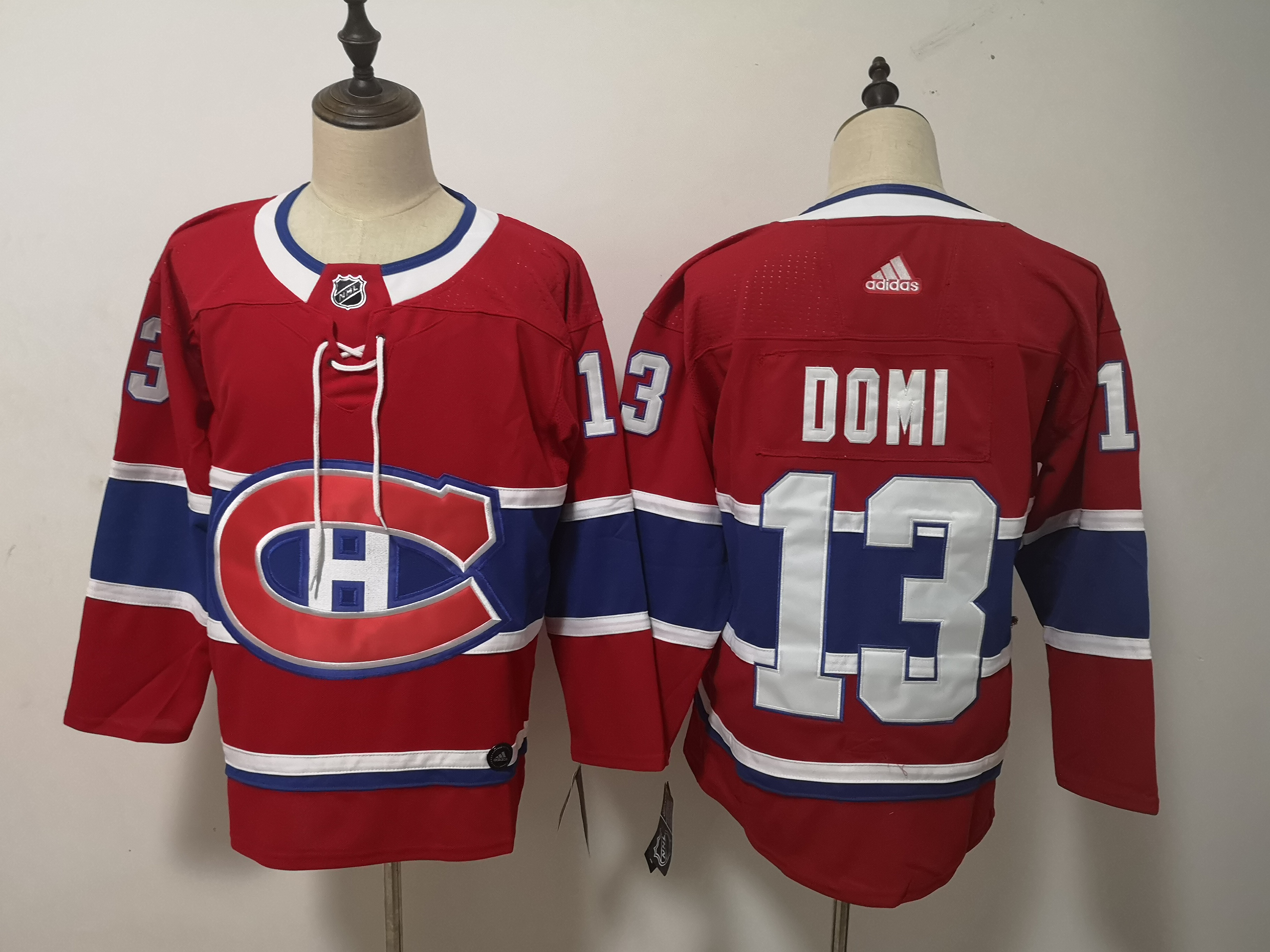 Canadiens 13 Max Domi Red Adidas Jersey