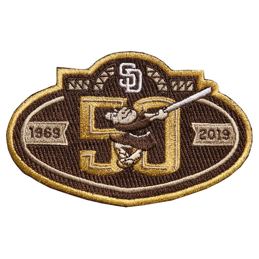 MLB San Diego Padres 50th anniversary Brown Patch
