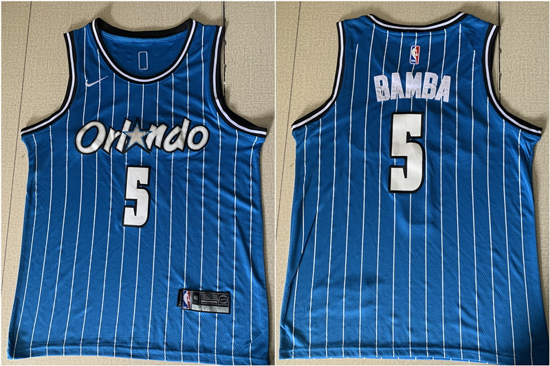 Magic 5 Mohamed Bamba Blue Nike Swingman Jersey