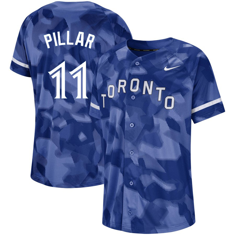 Blue Jays 11 Kevin Pillar Royal Camo Fashion Jersey