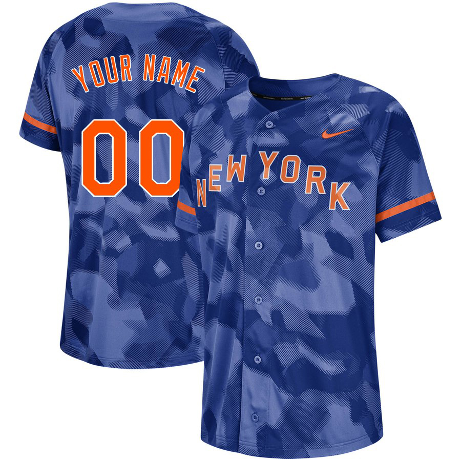 Mets Royal Camo Fashion Men's Customized Jersey