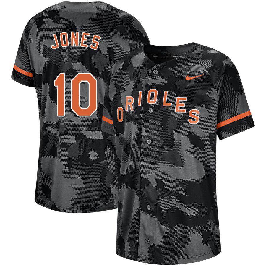 Orioles 10 Adam Jones Black Camo Fashion Jersey