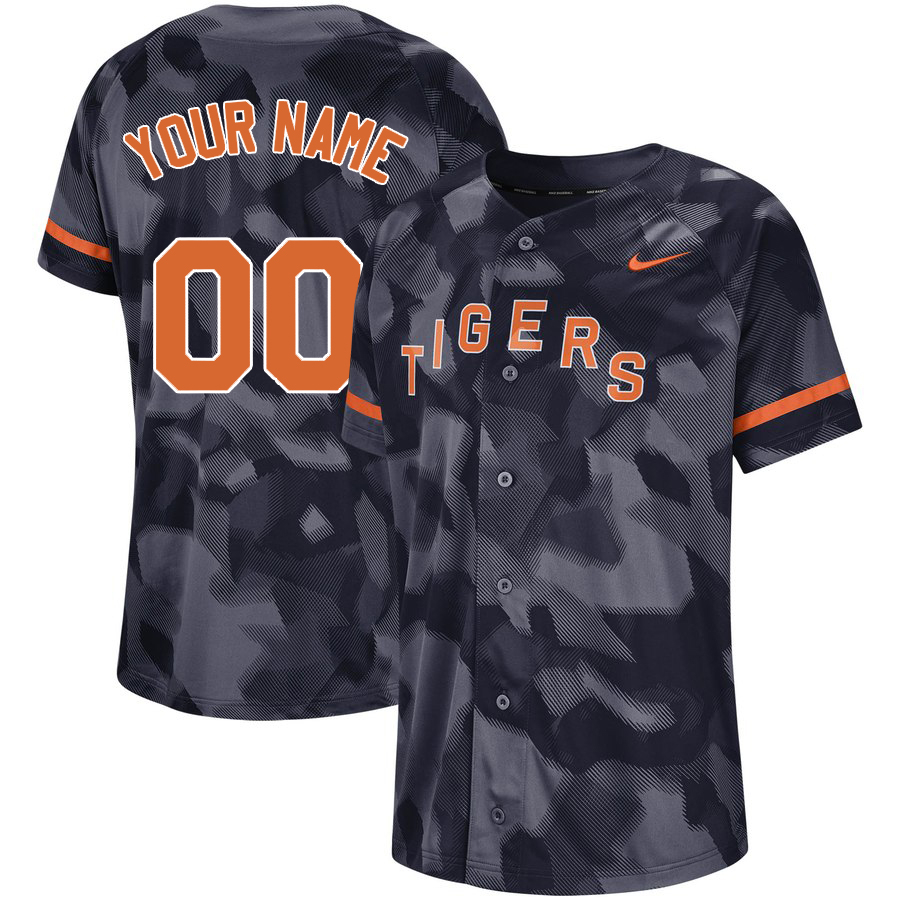 Tigers Black Camo Fashion Men's Customized Jersey