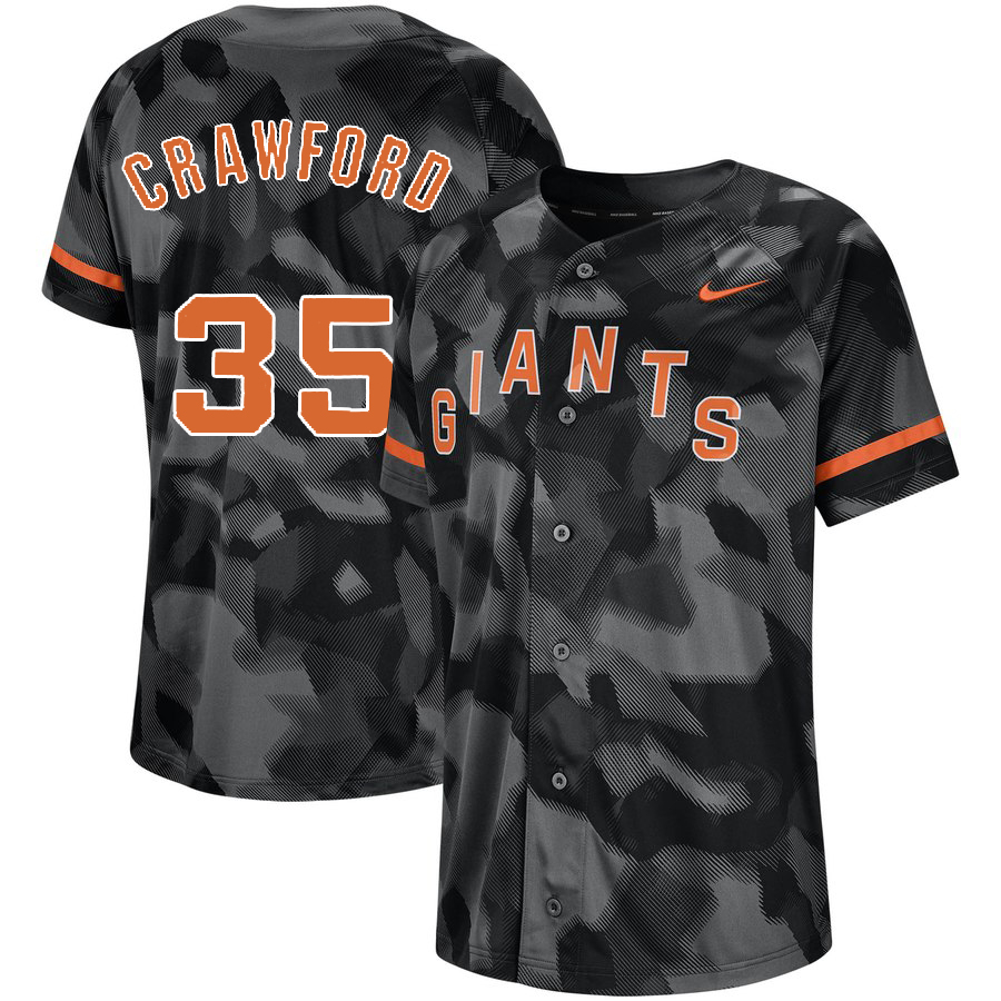 Giants 35 Brandon Carwford Black Camo Fashion Jersey