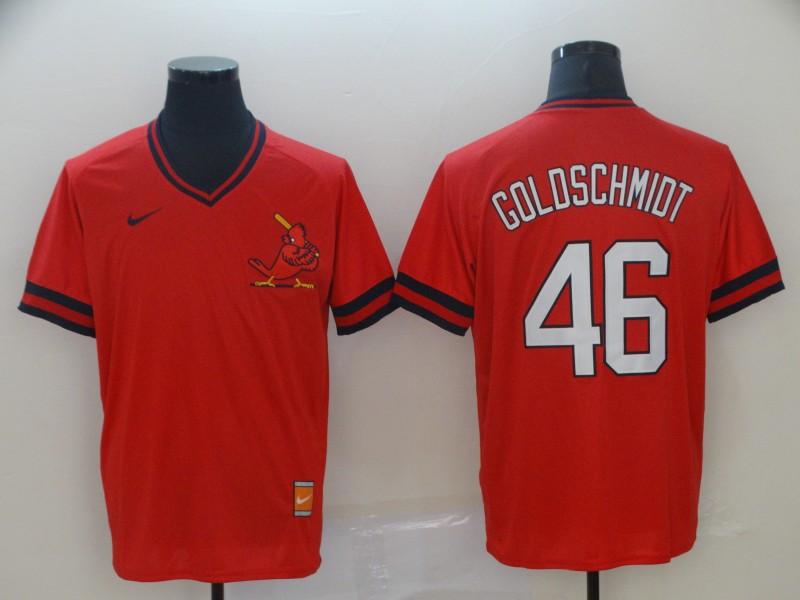 St. Louis Cardinals 46 Paul Goldschmidt Red Throwback Jersey