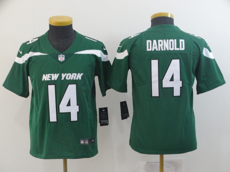 Nike Jets 14 Sam Darnold Green Youth New 2019 Vapor Untouchable Limited Jersey