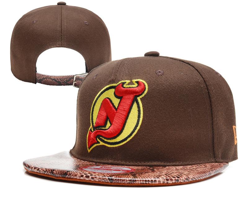 Devils Team Logo Brown Adjustable Hat YD