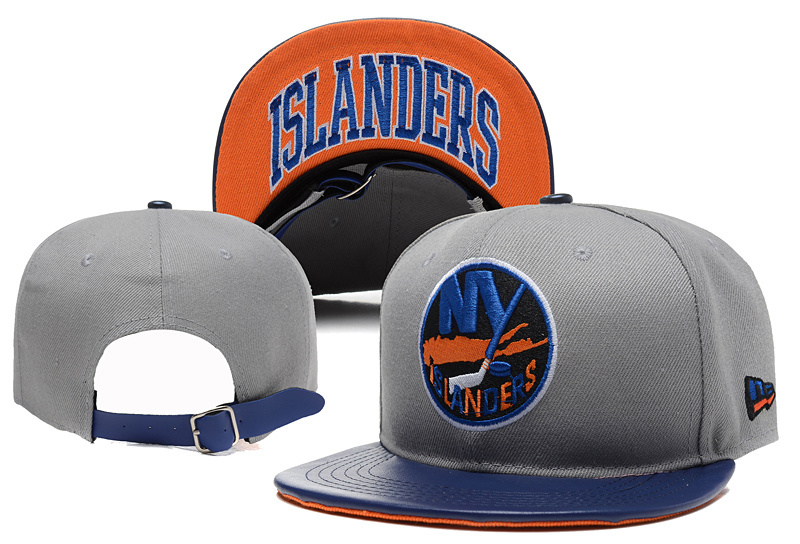 Islanders Team Logo Gray Adjustable Hat YD