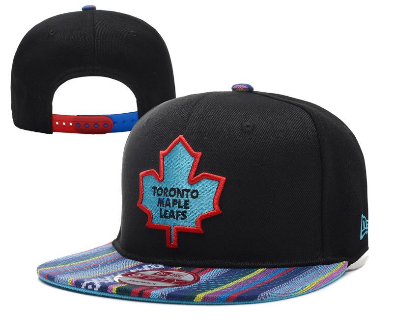 Maple Leafs Team Logo Black Adjustable Hat YD