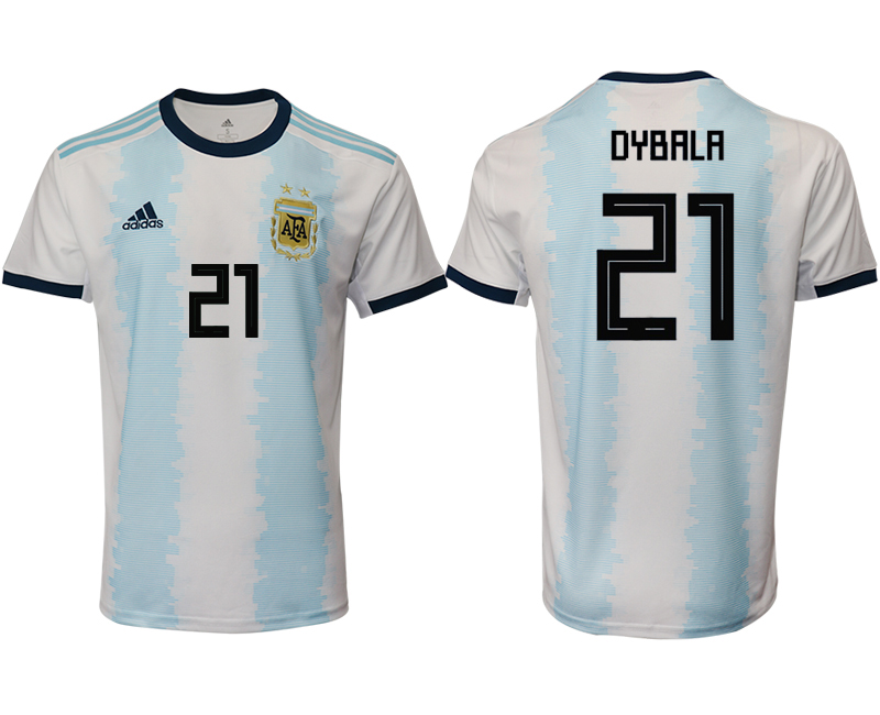 2019-20 Argentina 21 DYBALA Home Thailand Soccer Jersey