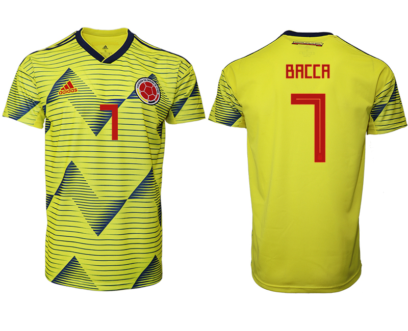 2019-20 Colombia Home 7 BACCA Thailand Soccer Jersey