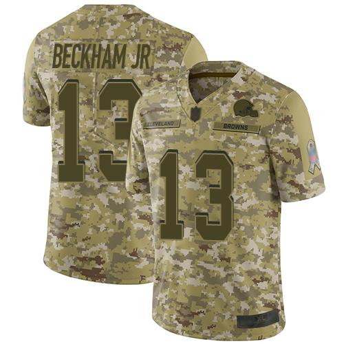 Nike Raiders 13 Odell Beckham Jr Camo Salute to Service Limited Jersey