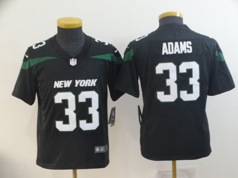 Nike Jets 33 Jamal Adams Black Youth New 2019 Vapor Untouchable Limited Jersey