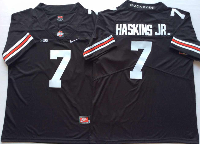 Ohio State Buckeyes 7 Dwayne Haskins Jr. Black College Football Jersey