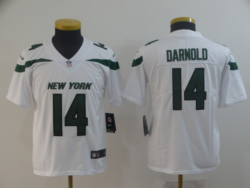 Nike Jets 14 Sam Darnold White Youth New 2019 Vapor Untouchable Limited Jersey