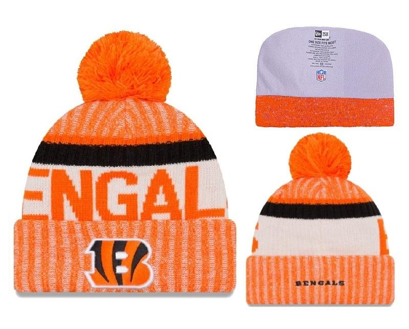 Bengals Fresh Logo Orange Winter Knit Hat YD