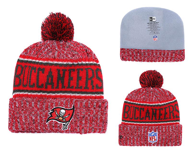 Buccaneers Fresh Logo Red Pom Knit Hat YD