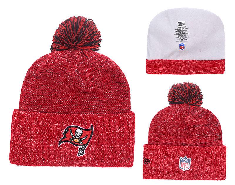 Buccaneers Fresh Logo Red With Pom Knit Hat YD
