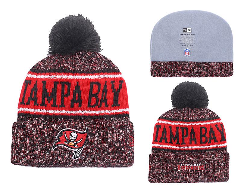 Buccaneers Pewter 2018 NFL Sideline Pom Knit Hat YD