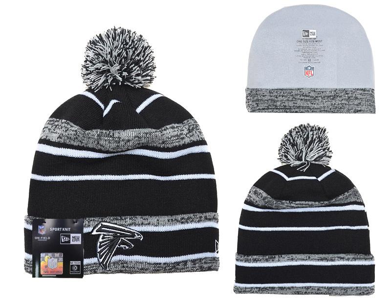 Falcons Classic Black Pom Knit Hat YD