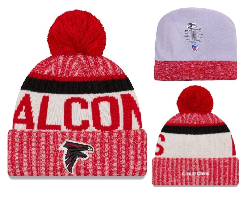 Falcons Team Logo Red Knit Hat YD